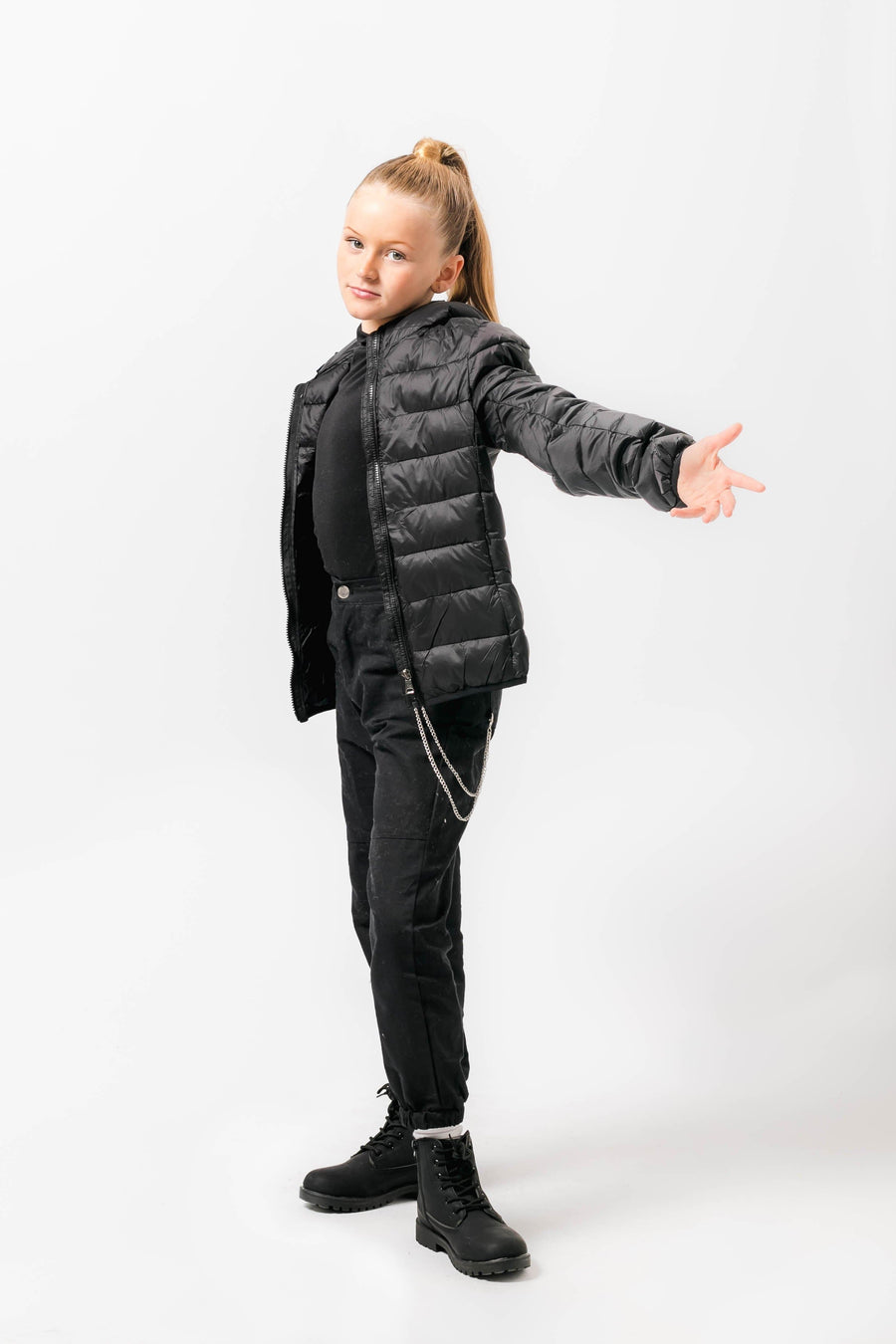 Mia Short Fitted Puffer Jacket Black