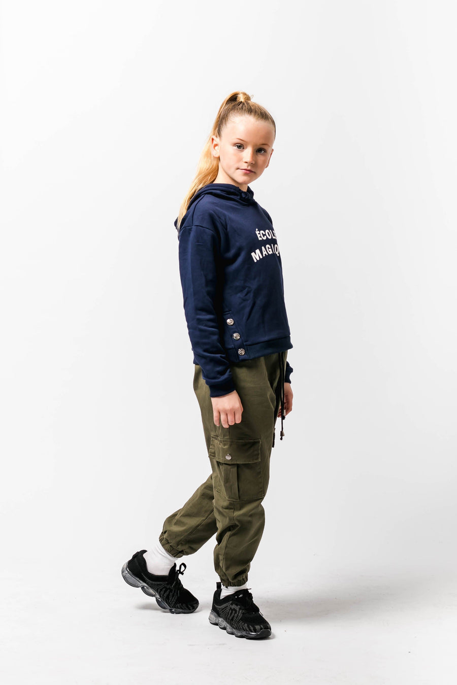 Hannah Combat Trouders In Khaki From Little Attitude