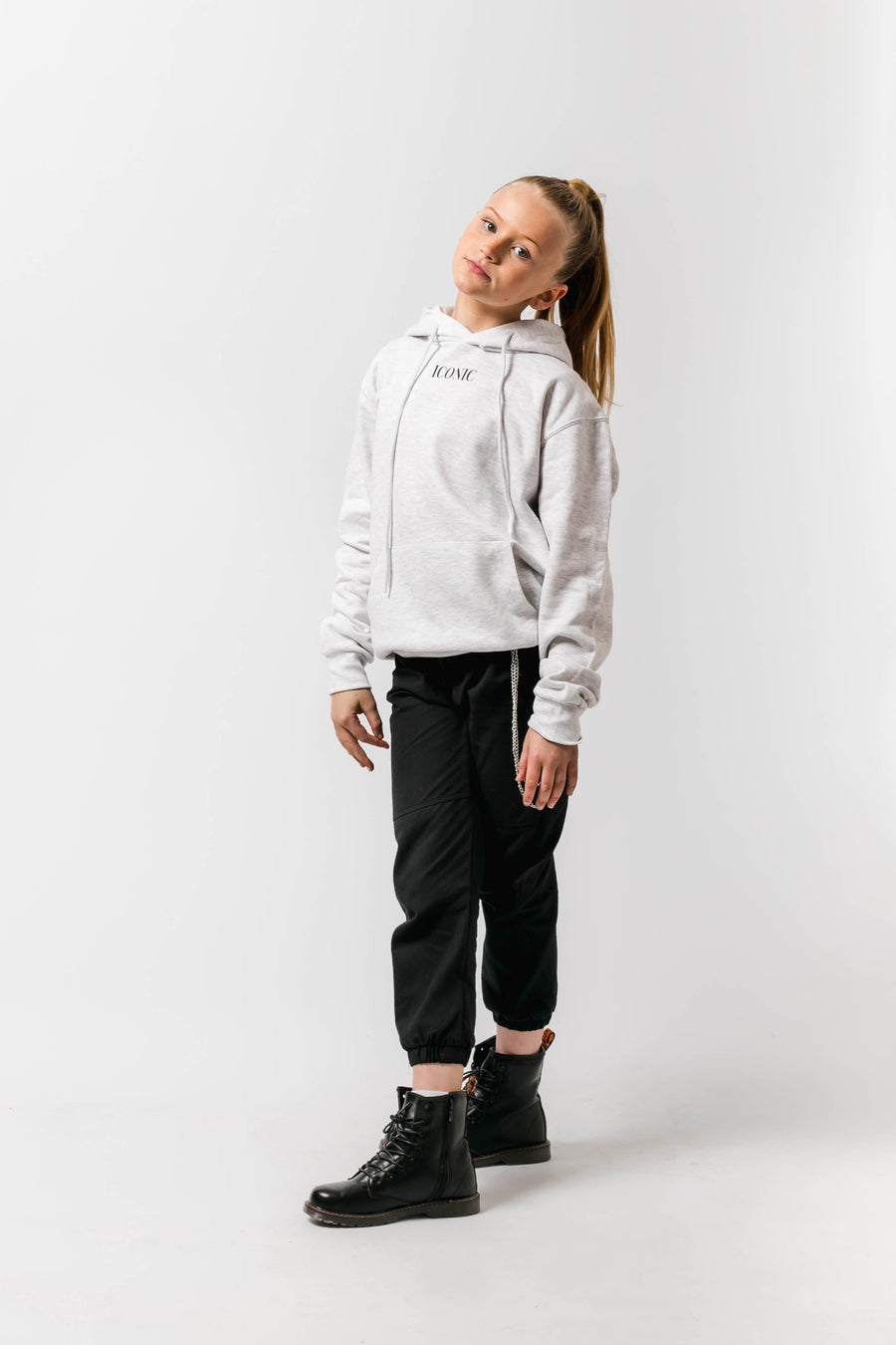Iconic Loose fit Hoody Stone Little Attitude