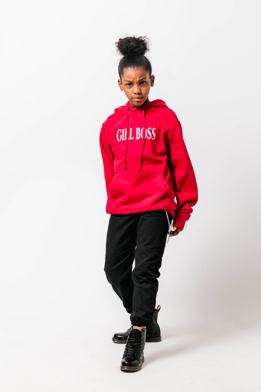Girl Boss Loose fit Hoody Red Little Attitude