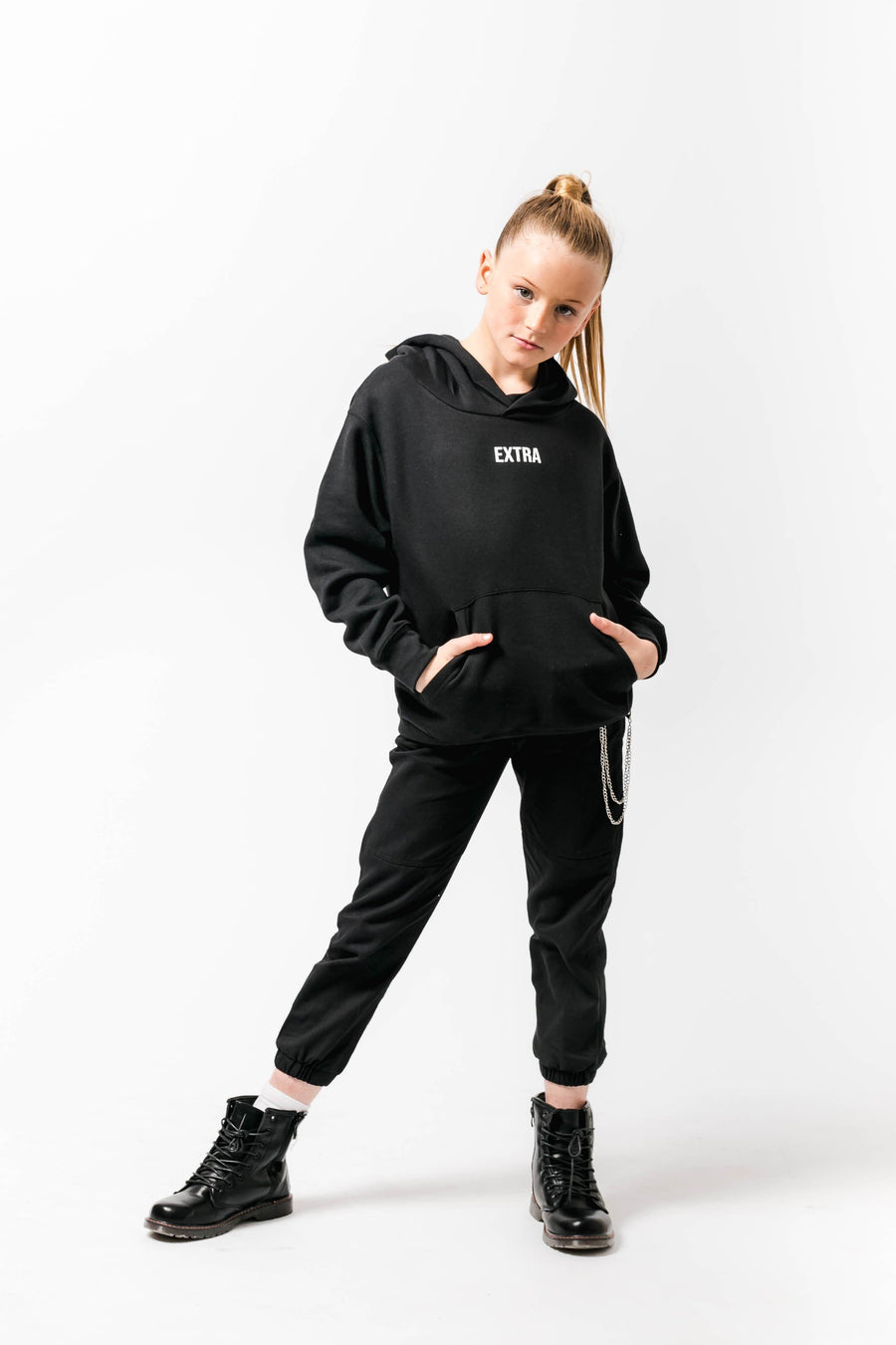 Extra Loose fit Hoody Black Little Attitude