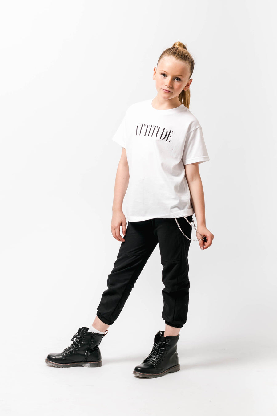 Attitude Loose fit Tshirt White Little Attitude