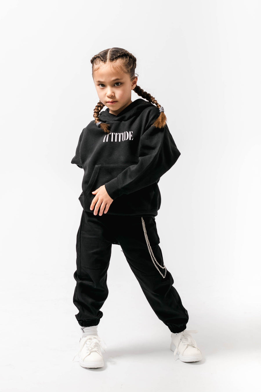 Attitude Loose fit Hoody Black Little Attitude