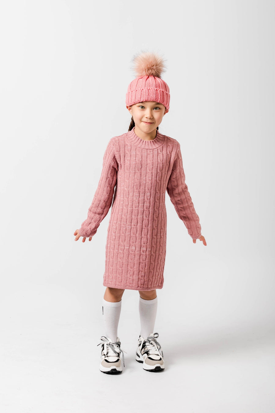 Courtney High Neck Knitted Jumper Dress By Little Attitude