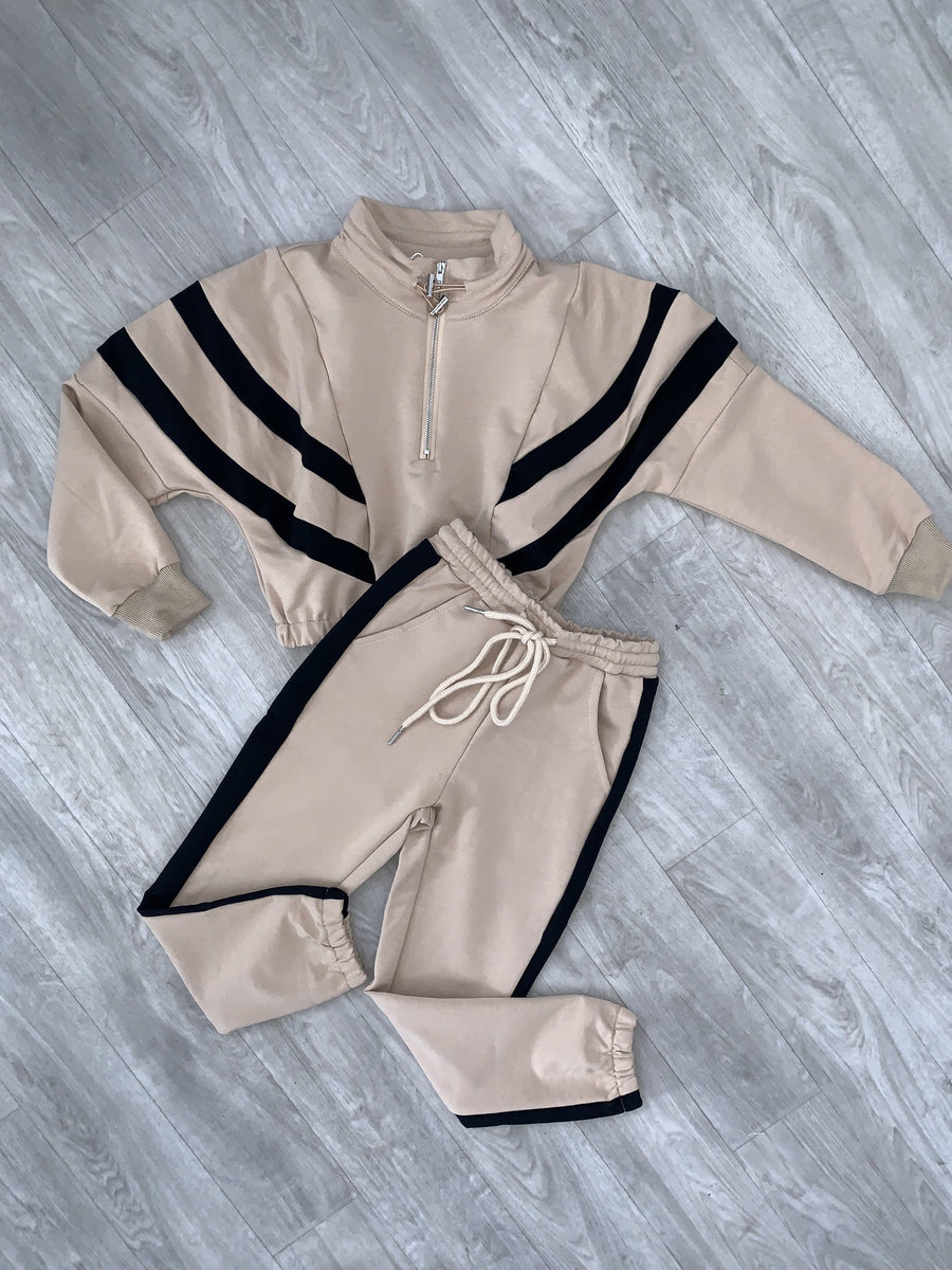 Fleur Sport Look Tracksuit Nude From Little Attitude