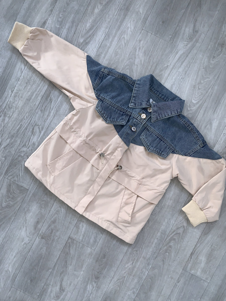 Milia Denim Mac Jacket Nude From Little Attitude