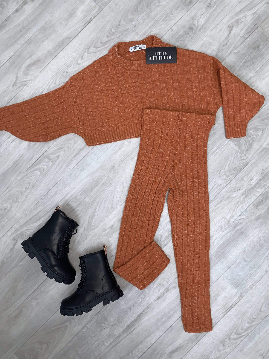 Janea Knitted Slim Fit Lounge Suit By Little Attitude