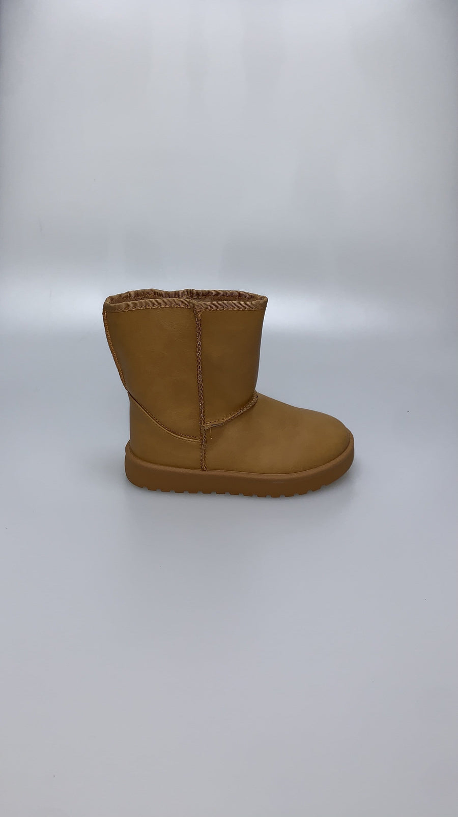 Olivia Faux Fur Lining Ankle Boots Faux Leather Camel