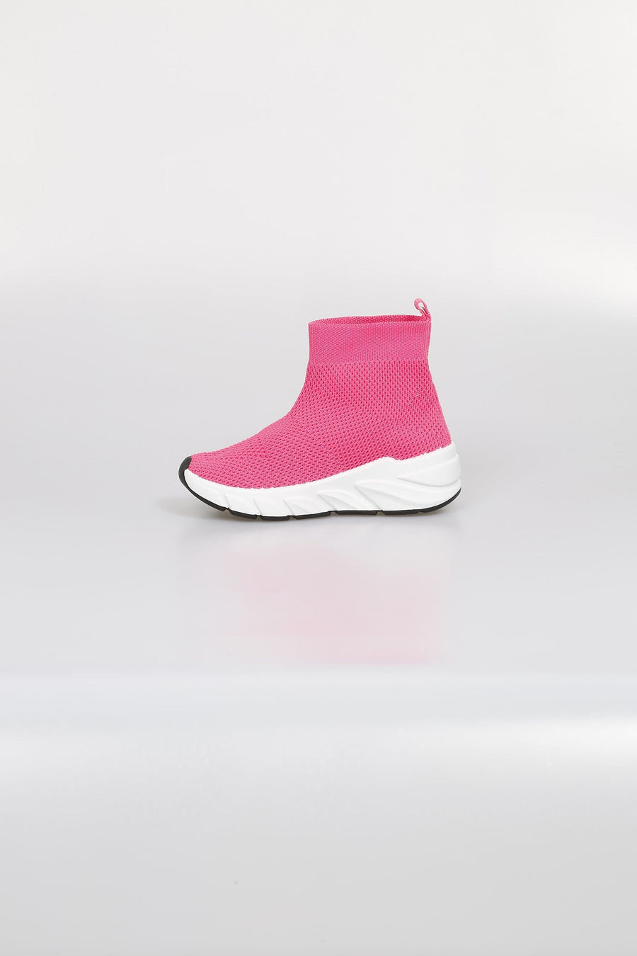 Nava Air Flow Chunky Sole Mesh Sock Trainers Fuchsia