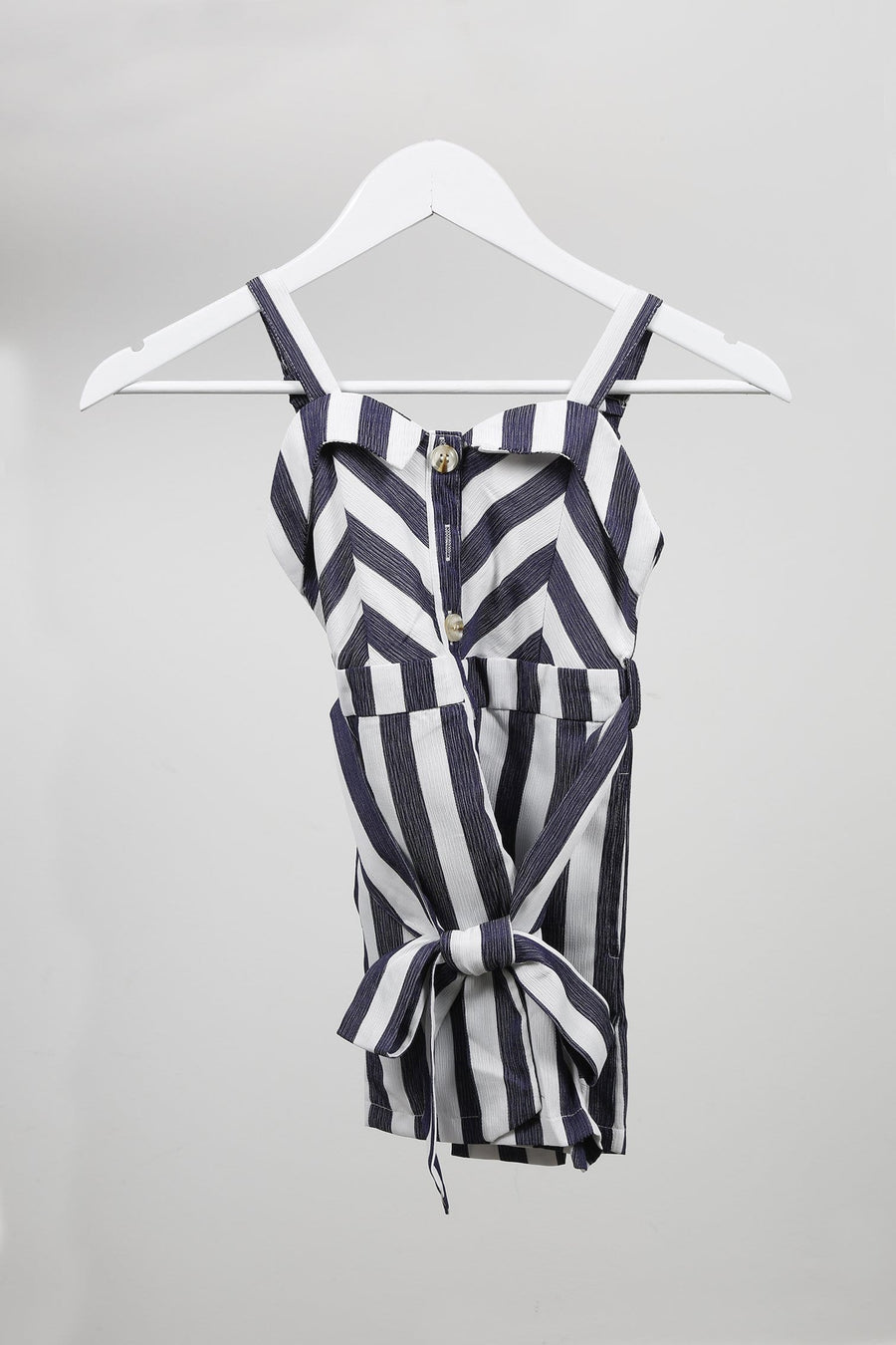 Rory Striped Playsuit Navy From Little Attitude