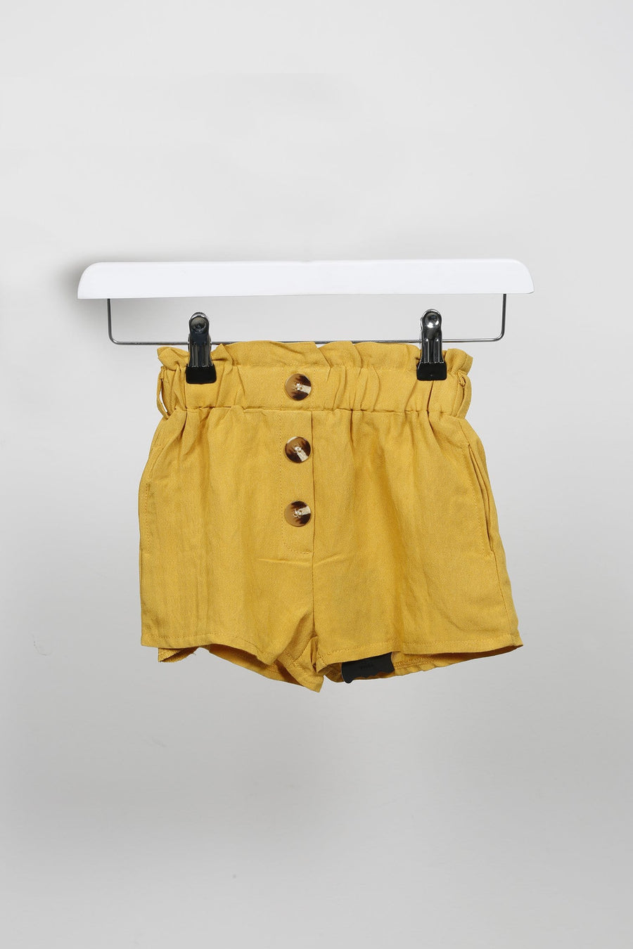 Ashlyn Button Up Shorts Co-Ord Set Mustard