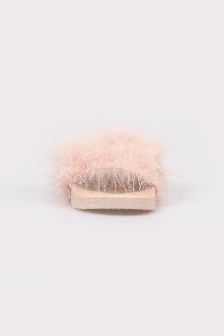 Isa Soft Feather Strap Sliders Pink
