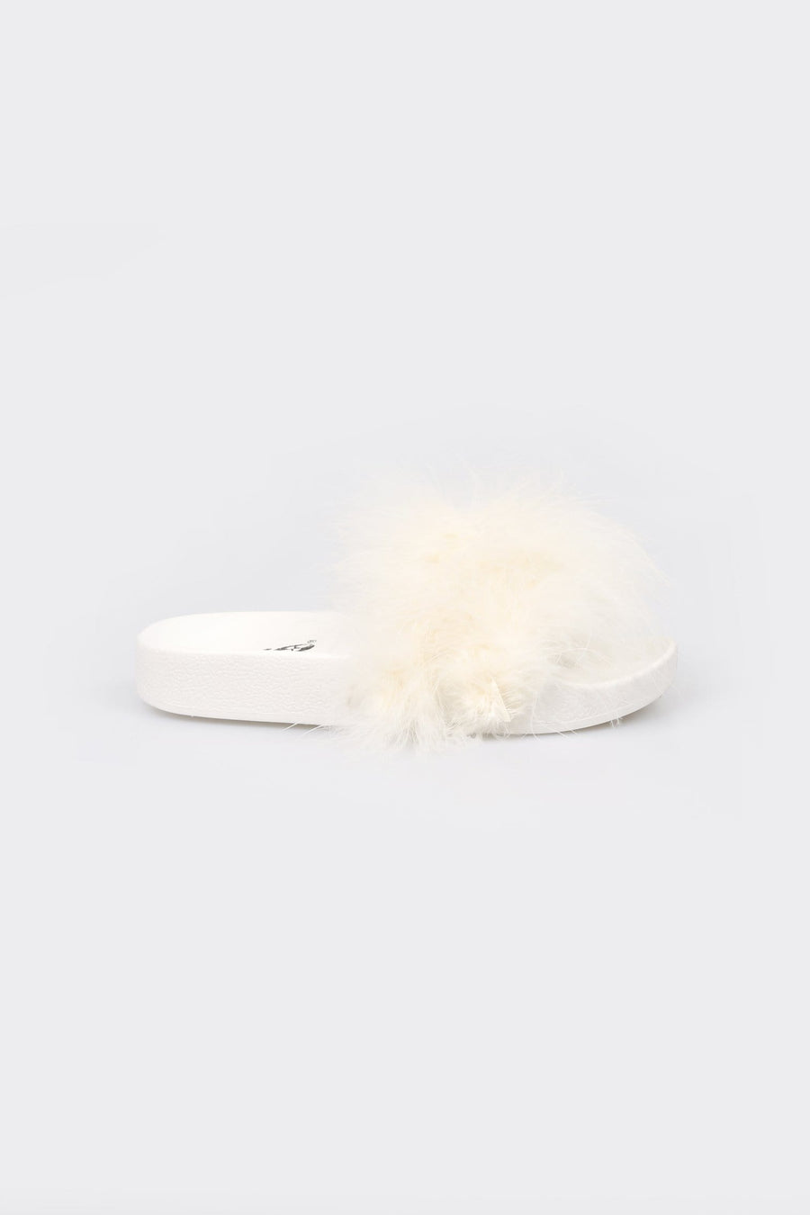 Isa Soft Feather Strap Sliders White