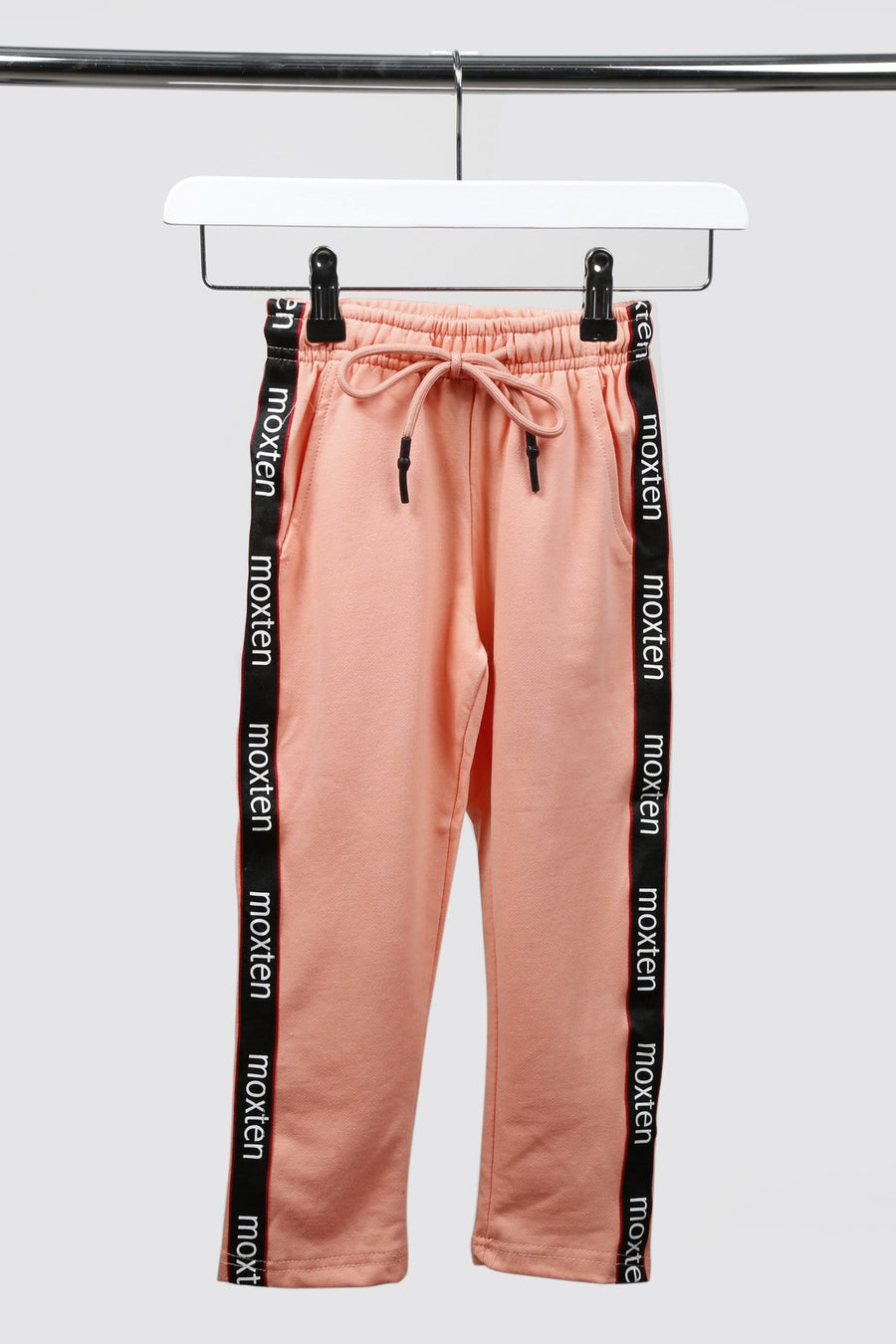 Sia Sport Side Stripe Tie Front Tapered Joggers Pink