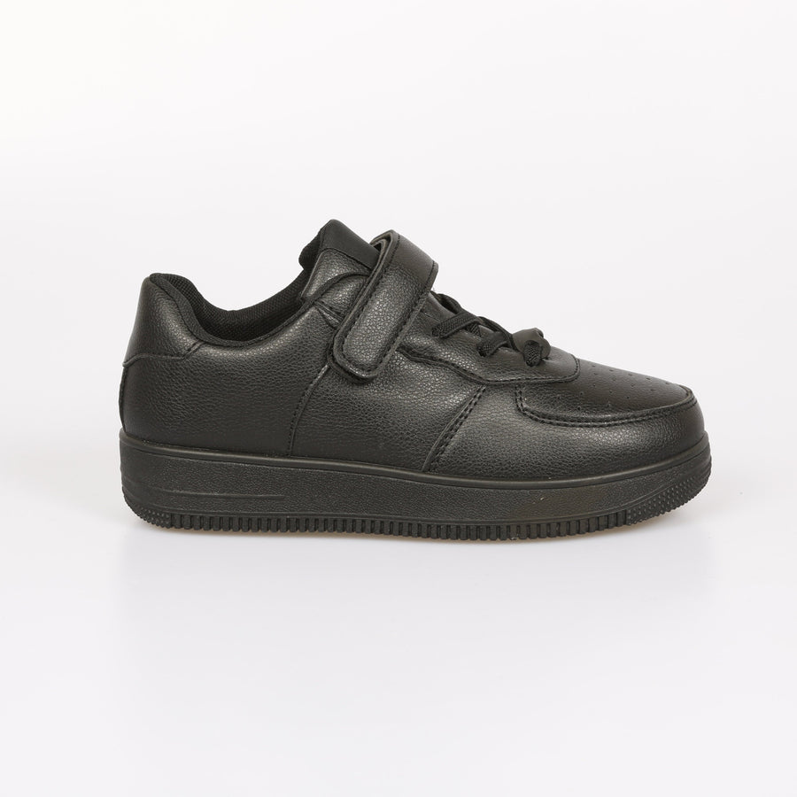 GiGi Sky Force Velcro Detail Trainers Black From Little Attitude