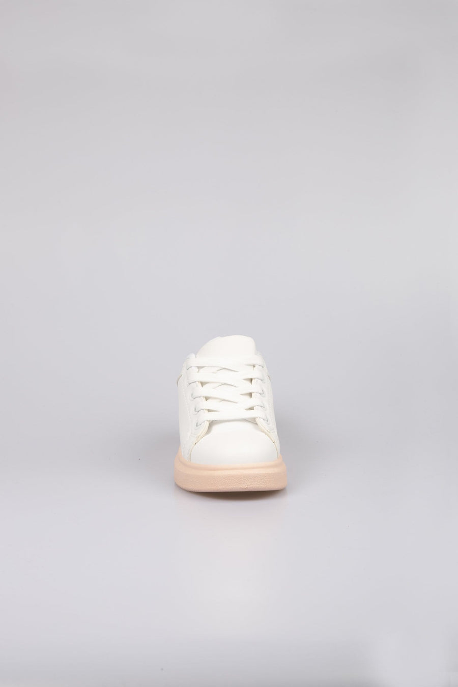 Alexi Runway Holographic Detail Platform Trainers Light White/Pink