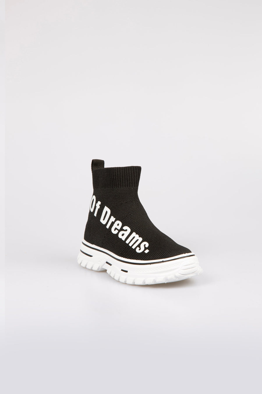 Alisia OF Dreams Printed Chunky Sole Sock Trainers Black/White