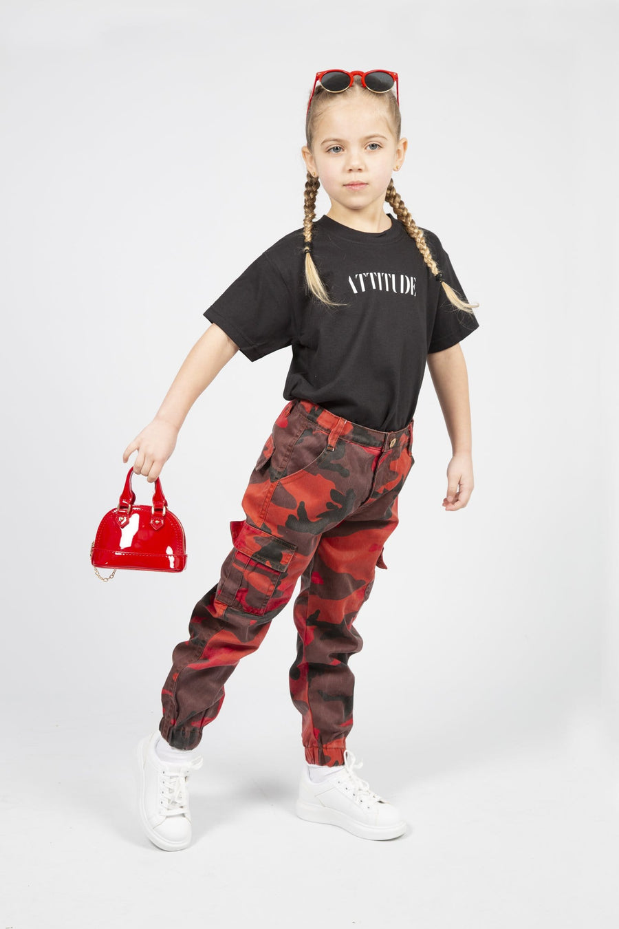 Xena Army Cargo Pants Red From Little Attitude