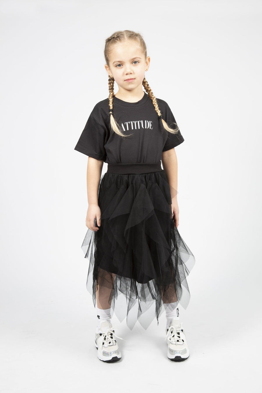 Verity Layered Midi Skirt Black From Little Attitude