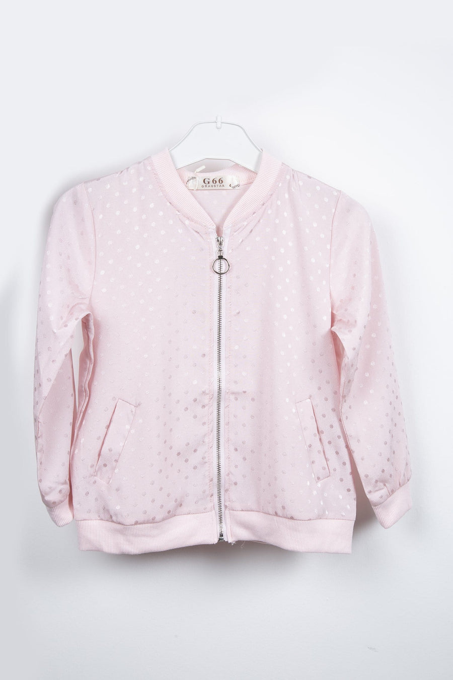 Tyla Polka Bomber Jacket Pink From Little Attitude