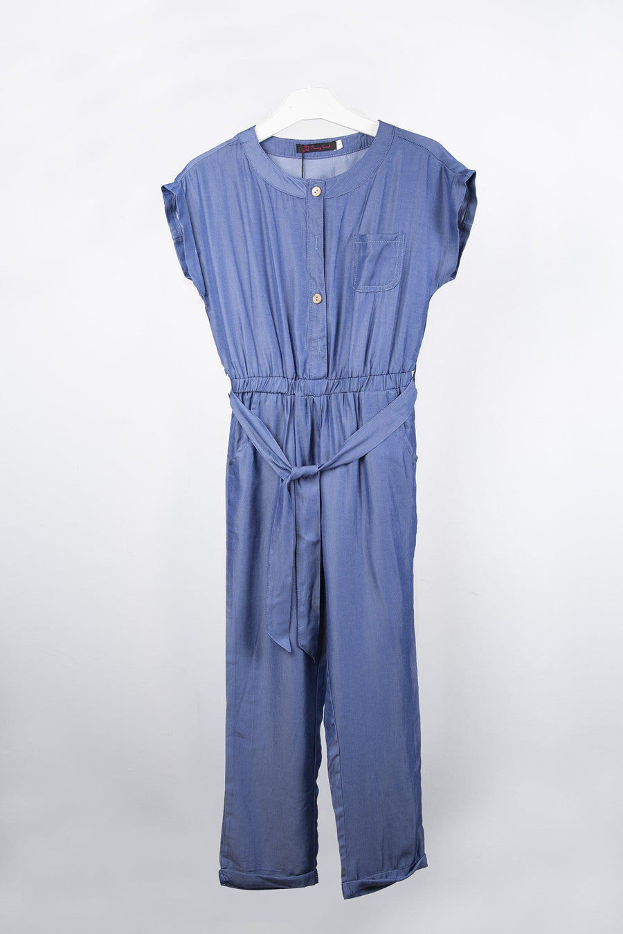 Olah Short Sleeve Jumpsuit Navy From Little Attitude
