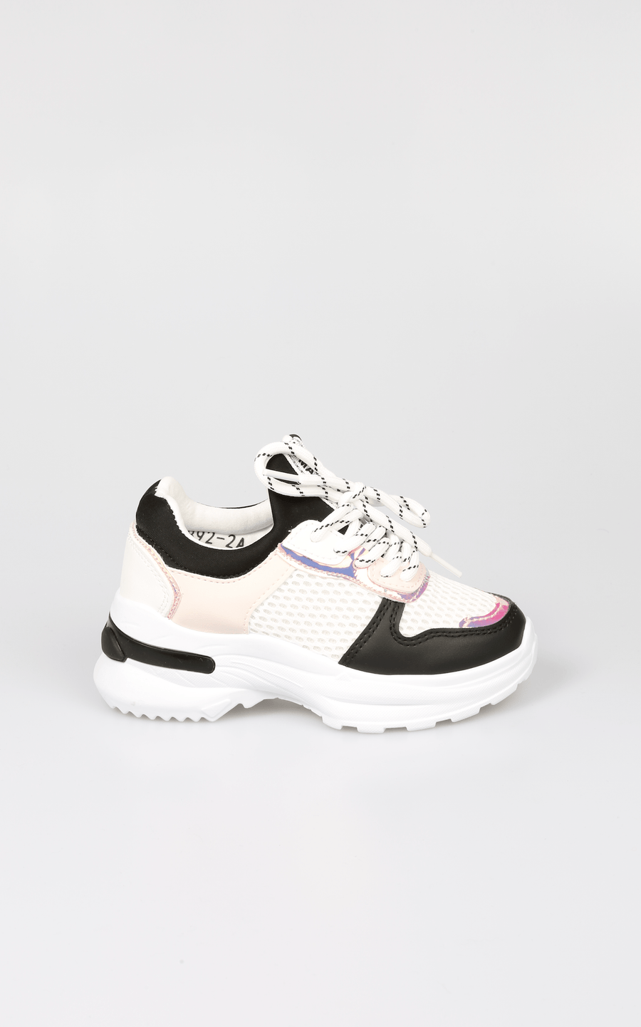 Sana Chunky Sole Trainer with Holographic Detail Black SS20 From Little Attitude