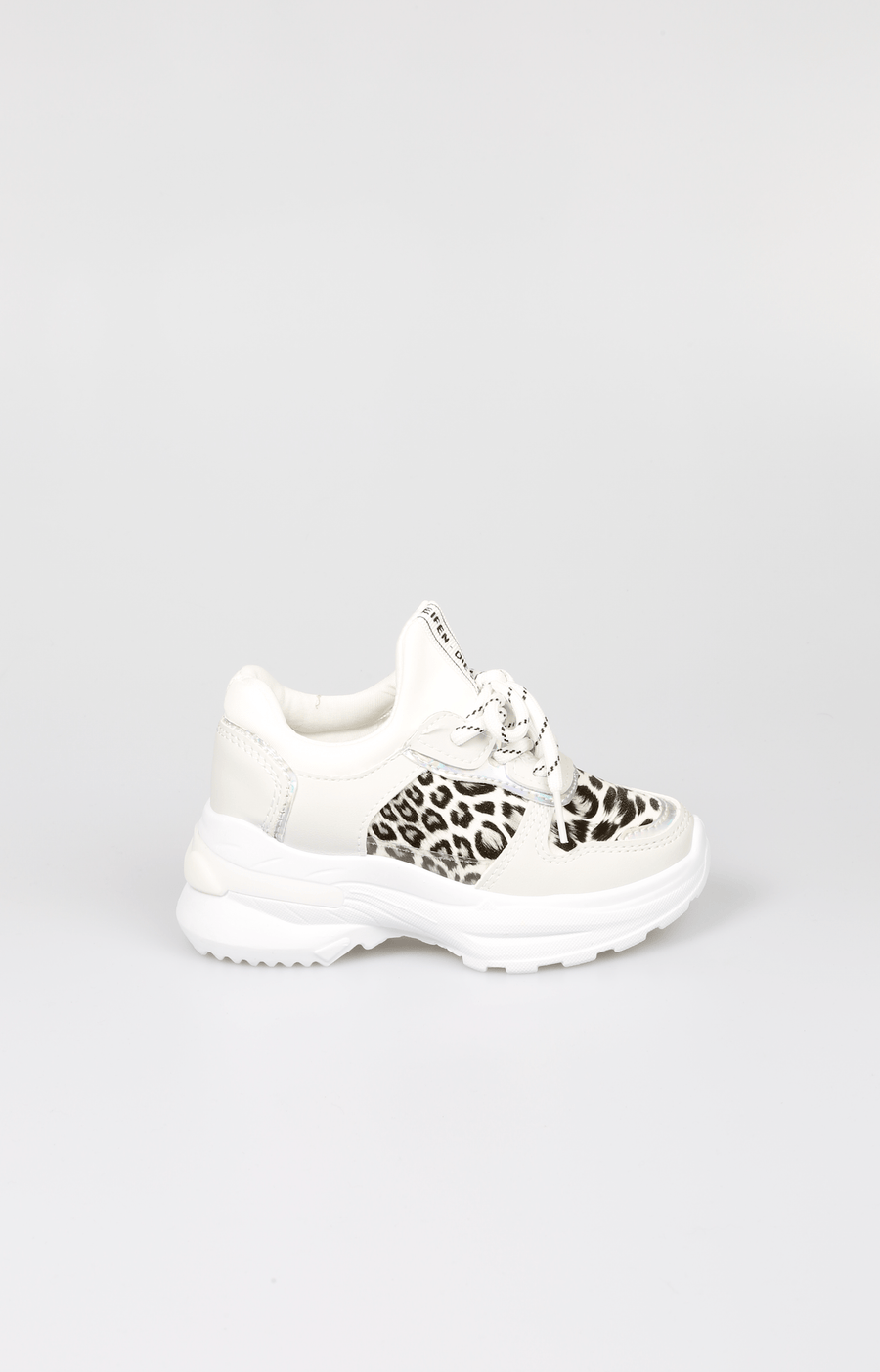 Ken Leopard Contrast Chunky Trainers White SS20 From Little Attitude