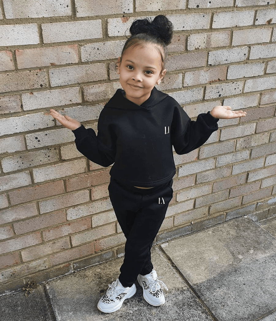 Gia LA Tracksuit Black From Little Attitude
