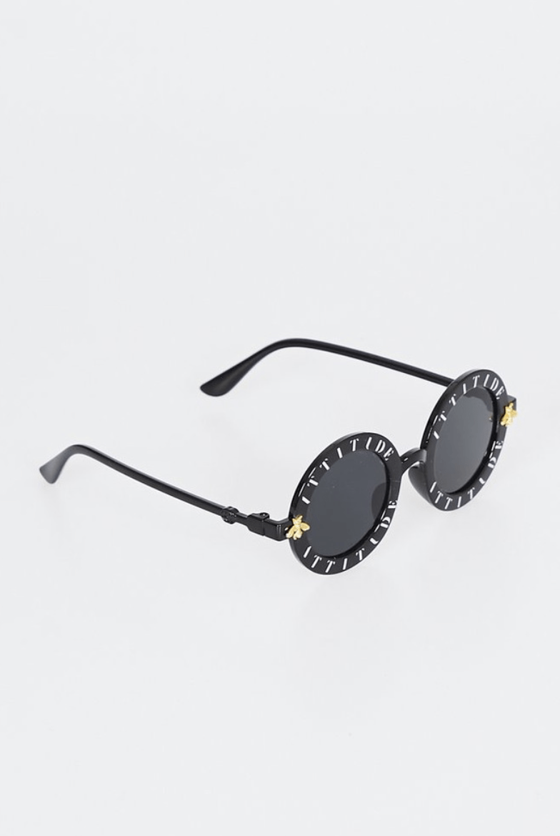LA Attitude Sunglasses Black