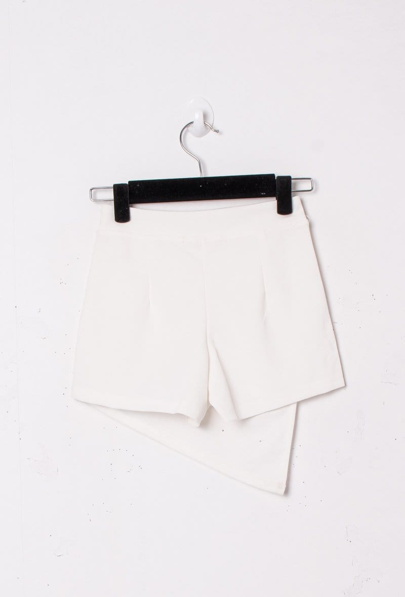 Remi Pearl Detail Mini Skort White