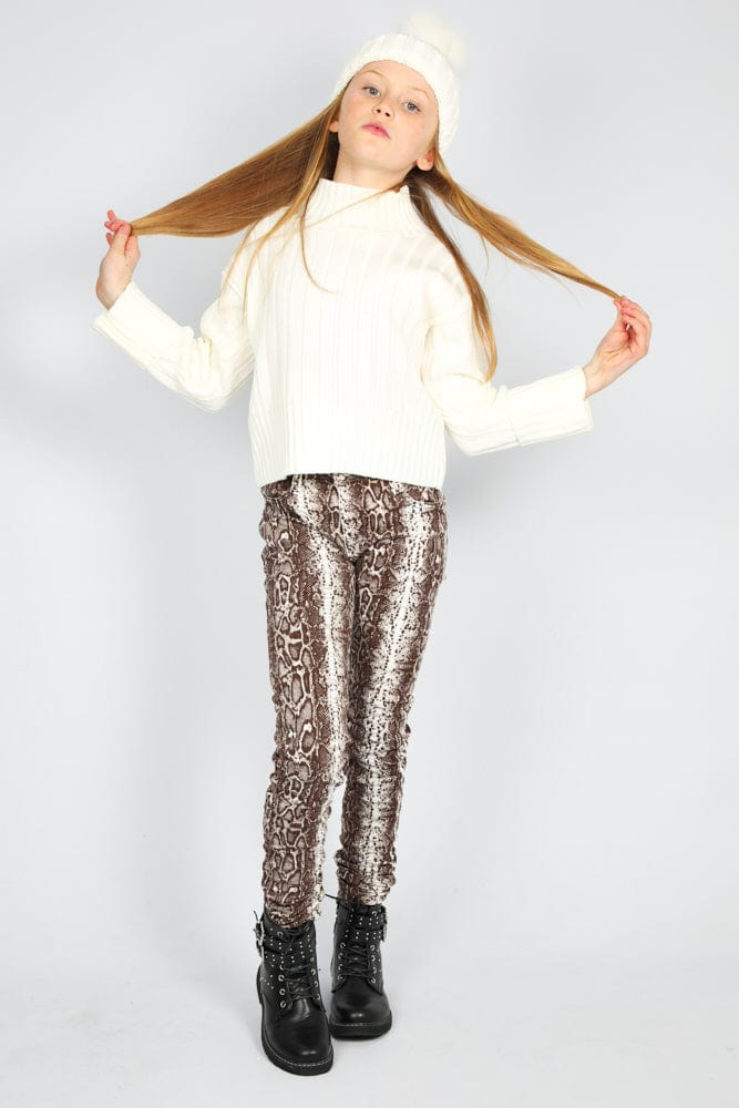 Genesis Jeans In Snake Print From Little Attitude.