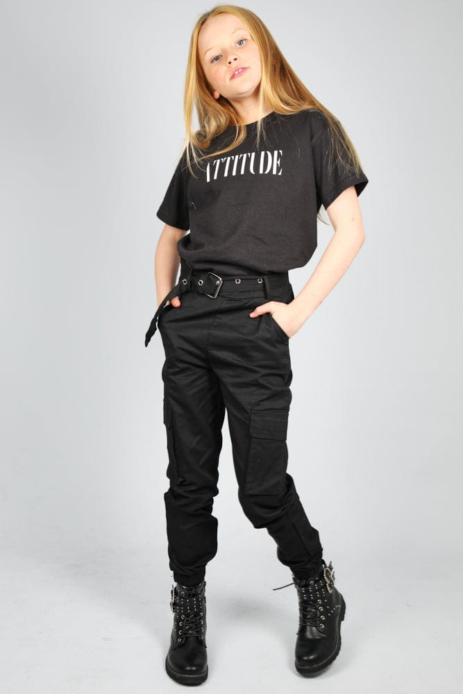 Attitude Loose fit Tshirt Black Little Attitude