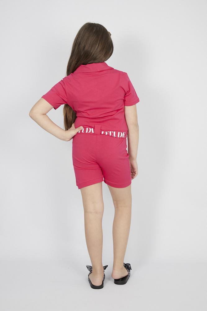 Eva Front Zip Playsuit Hot Pink