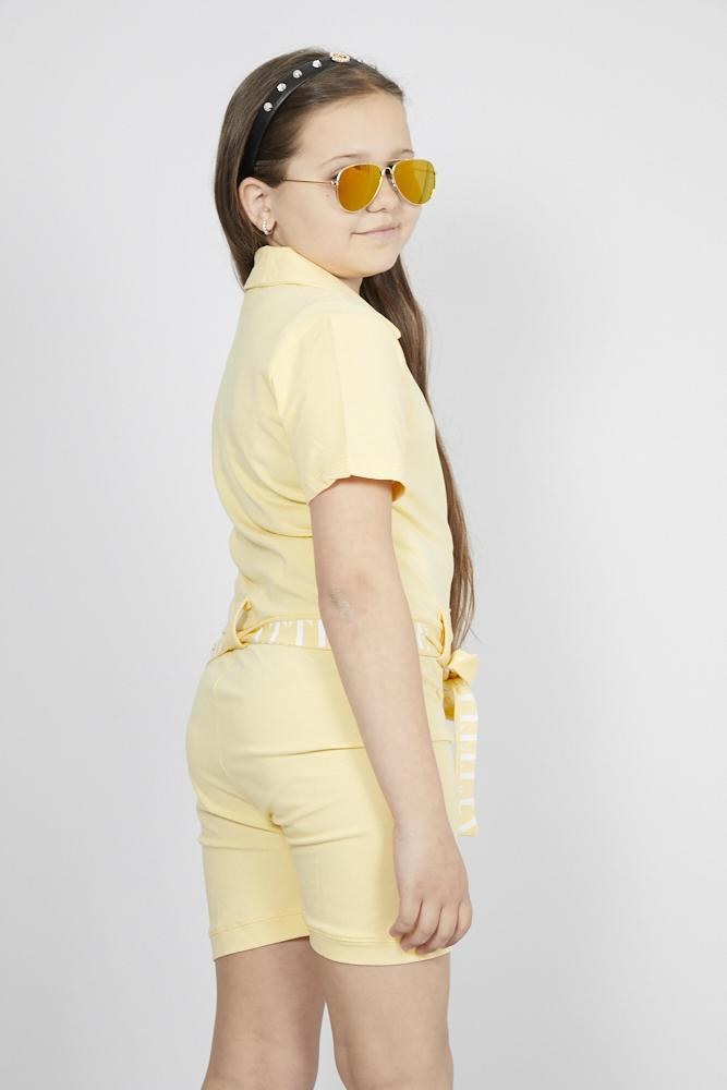 Eva Front Zip Playsuit Marigold Yellow