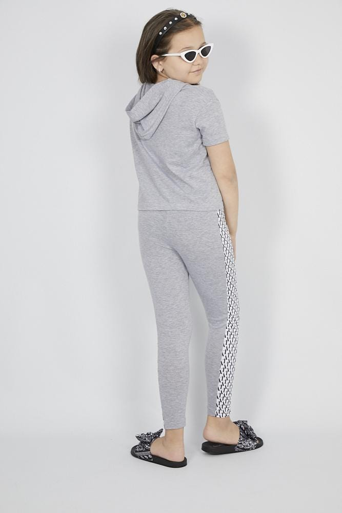 Stormi Crop Loungewear Set Grey
