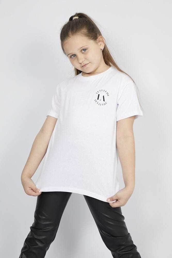 Aria Attitude Circle Printed T Shirt White