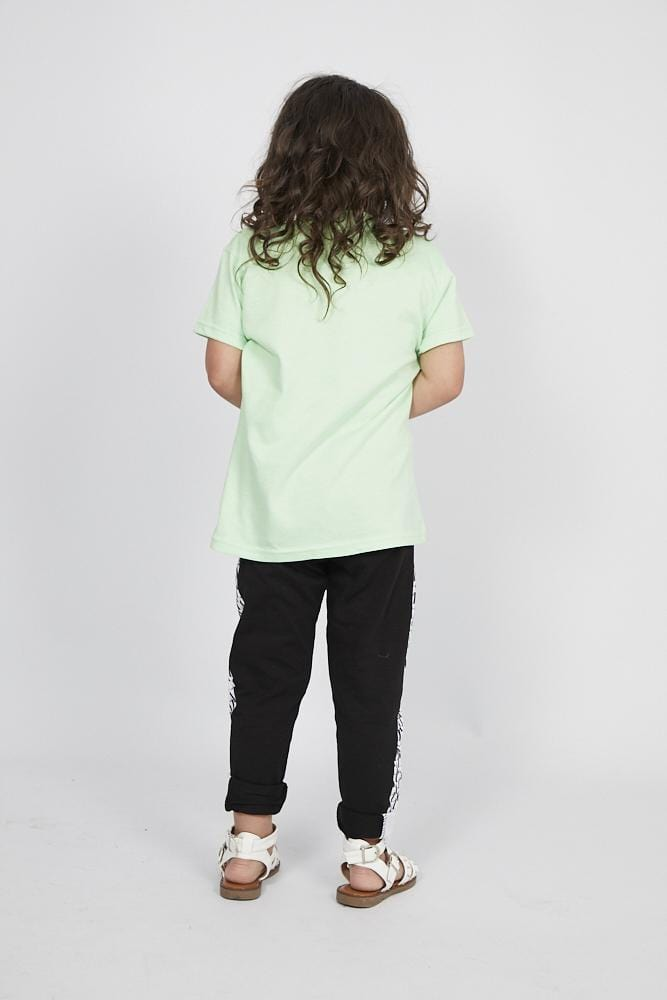 Aria Attitude Circle  Printed T Shirt Mint