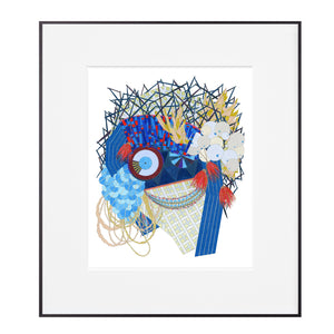 pattie lee becker art print masks