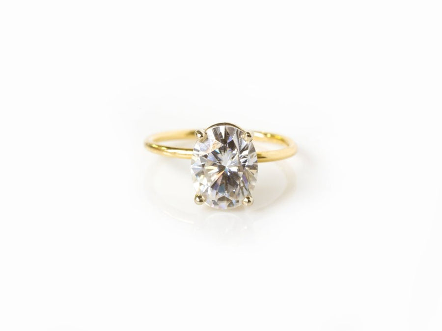 Moissanite Oval Engagement Ring