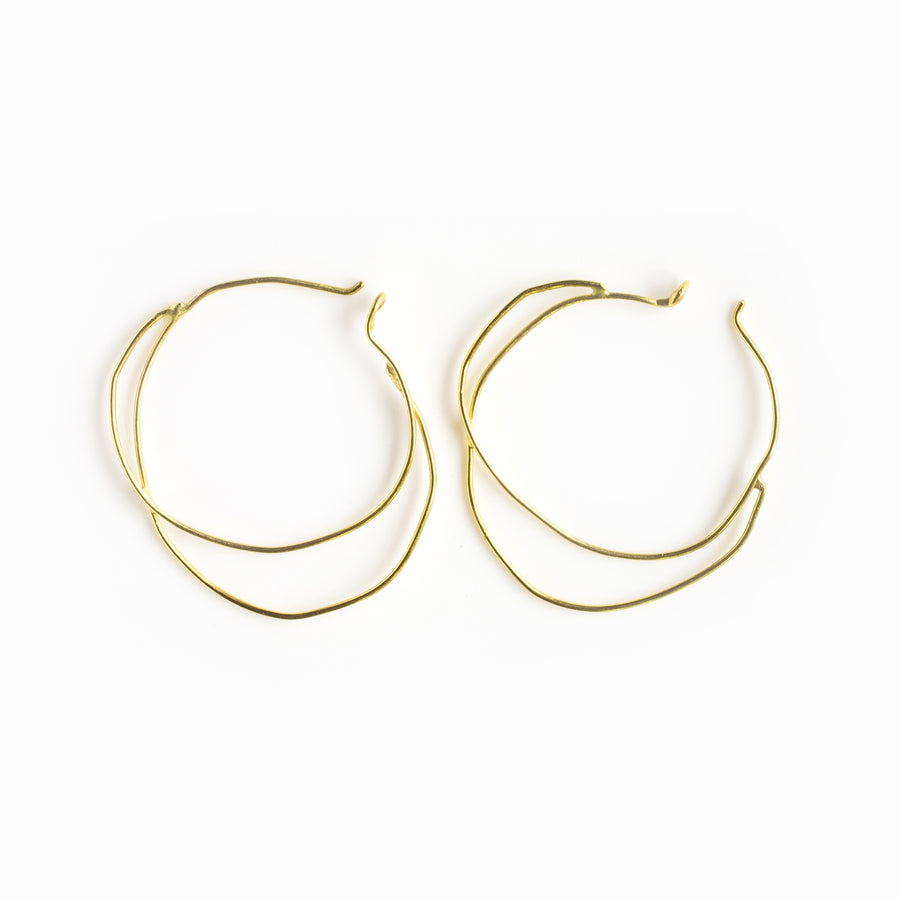 Organic, Free-Formed Gold Earrings