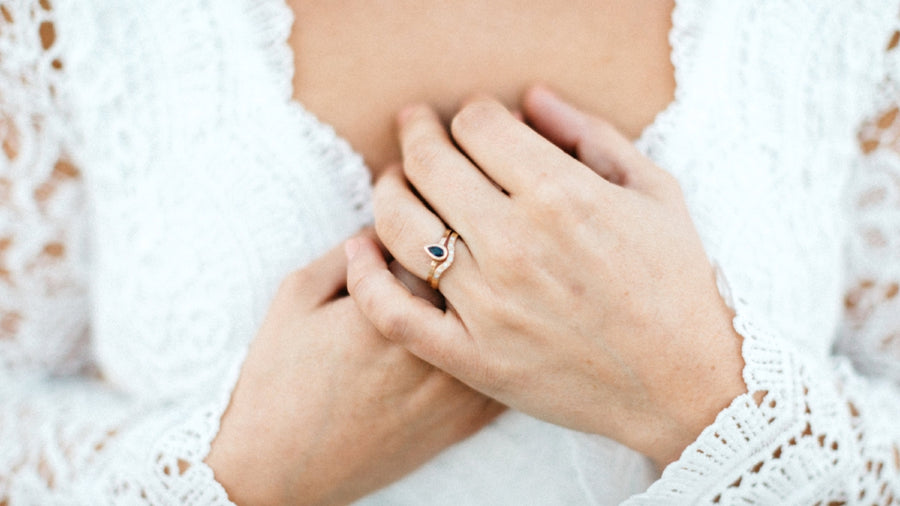Midnight | Sapphire Engagement Ring - Melissa Tyson Designs