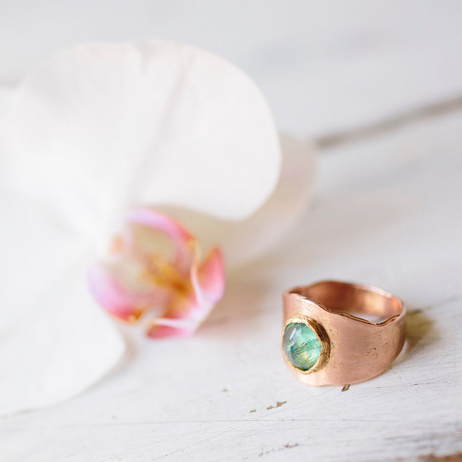 Green Tourmaline Gemstone Ring