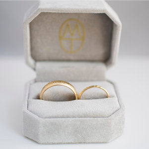 Lightly Textured Gold Wedding Band Set