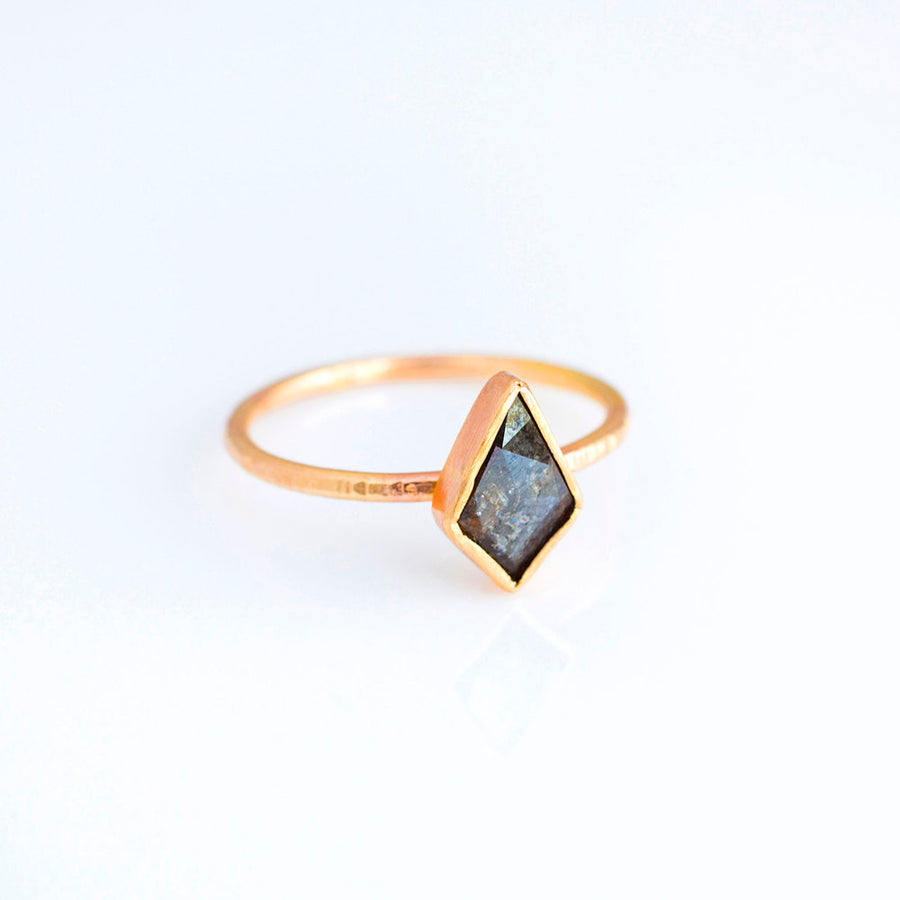 Kite | Gray Diamond Engagement Ring - Melissa Tyson Designs