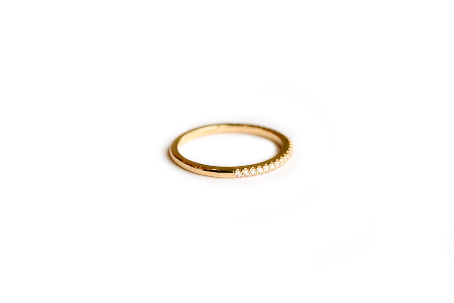 Promise | Thin Diamond 14k Gold Wedding Band - Melissa Tyson Designs