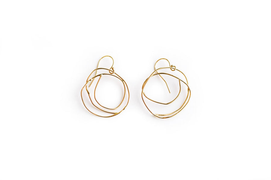Light Circle Hoops | Organic Recycled Gold Hoop Earrings - Melissa Tyson Designs