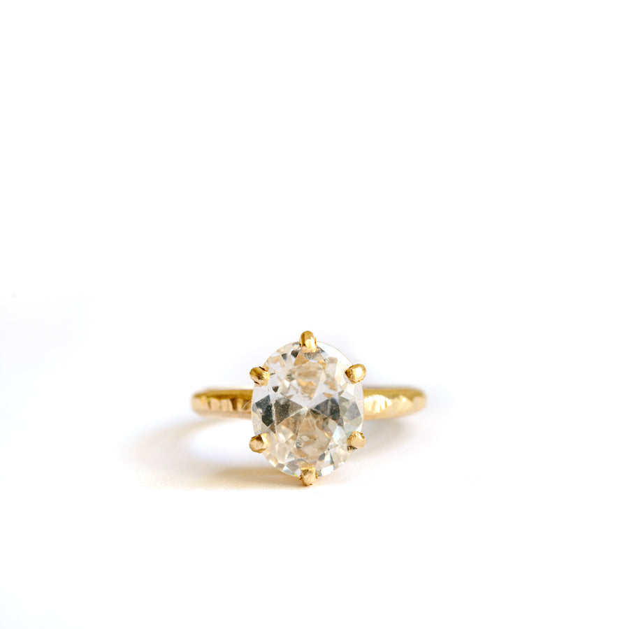 Sia Oval Moissanite Engagement Ring - Melissa Tyson Designs