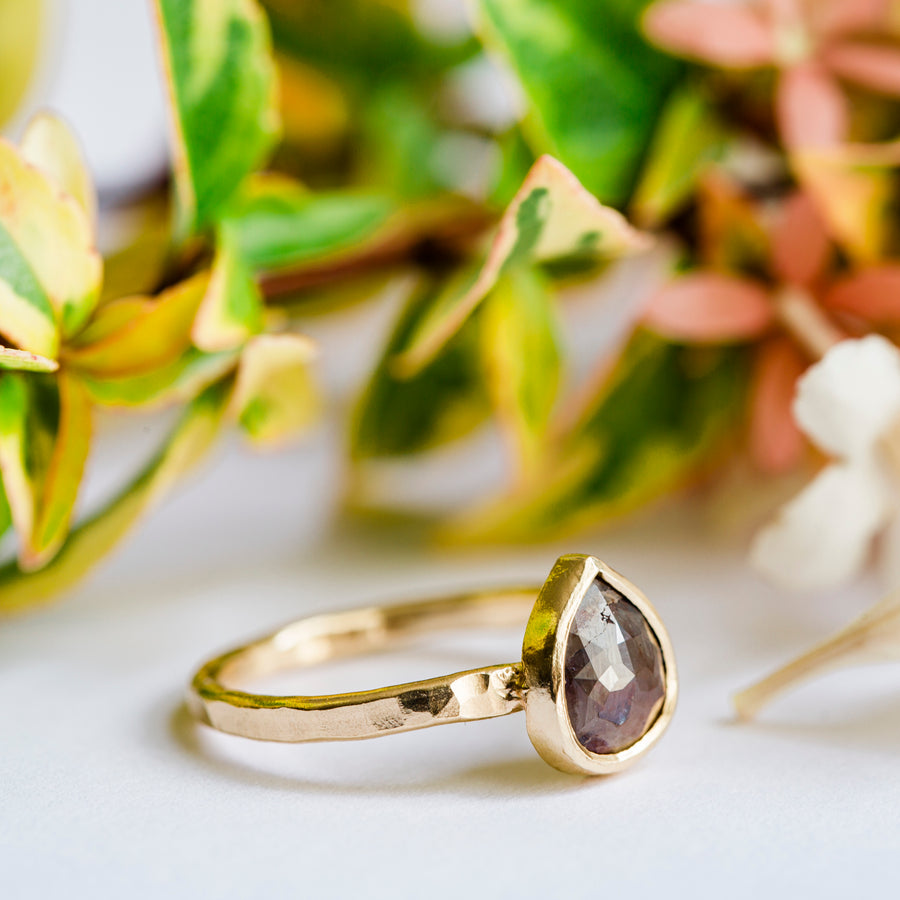 Clay | Gray Pear Diamond Engagement Ring - Melissa Tyson Designs