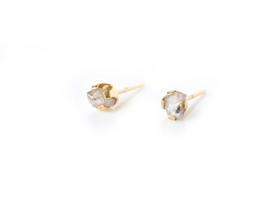 Golden Snow | Raw Diamond Earrings - Melissa Tyson Designs