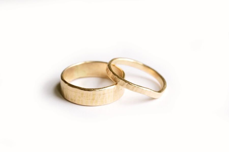 Bark | Wedding Band Set - Melissa Tyson Designs